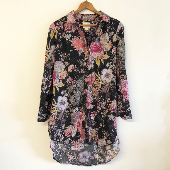 c7920bf78f Anthropologie Tops - ⬇️Anthropologie Maeve Floral High Low Tunic Shirt